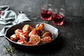 Roasted Chicken Legs In Cast Iron Skillet Stock Image - 67377571
