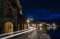 Trail Of Light In Perast Stock Photography - 67382702