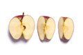 Red Delicious Apple Cut In Half And Quarters Stock Photography - 67388042