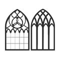 Gothic Windows. Vintage Frames. Church Stained-glass Windows Stock Image - 67391271
