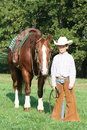 Young Cowboy And Horse Royalty Free Stock Photos - 6740868