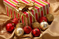 Christmas Gift And Ornament Balls Stock Image - 6742581