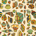 Seashell Seamless Pattern Stock Photo - 67431060