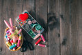 Threads In Basket, Scissors, Measuring Tape Stock Images - 67434414