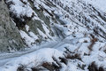 Mountain Road Snow Winter Curve Royalty Free Stock Images - 67476789
