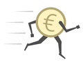 Euro Coin Running Isolated Royalty Free Stock Photo - 67487185