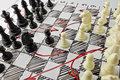 Chess. White Board With Chess Figures On It. Stock Images - 67494544