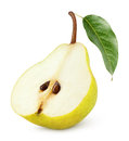 Half Of Yellow Pear Fruit Isolated On White Stock Image - 67497351