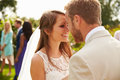 Romantic Young Couple Getting Married Outdoors Stock Photography - 67504332