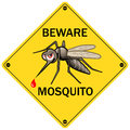 Vector Sign: Beware Mosquito Stock Photos - 67514923