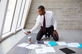Businessman Laying Documents On Floor To Plan Project Royalty Free Stock Photos - 67524078