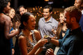 Couples Dancing And Drinking At Evening Party Stock Images - 67525864