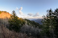Sunset On Cligmans Dome At Smoky Mountain Royalty Free Stock Image - 67538786