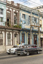 Vintage Chevrolet And Mercedes Benz Fifties Taxis Havana Royalty Free Stock Image - 67539366