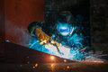 Worker Welding Metal Royalty Free Stock Images - 67556939
