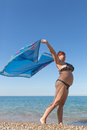 Overweight Middle Aged Woman At The Sea Stock Images - 67557354
