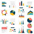 Big Set Of Flat Infographics Elements. Chart, Graph, Diagram, Scheme, Flowchart, Bubble Included. Royalty Free Stock Image - 67557966