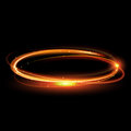 Vector Magic Gold Circle. Glowing Fire Ring. Glitter Sparkle Swirl. Stock Photos - 67571333