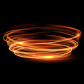 Vector Magic Gold Circle. Glowing Fire Ring. Glitter Sparkle Swirl. Royalty Free Stock Image - 67571346