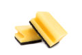 Yellow Cleaning Sponge With Scrub Isolated On White Background Royalty Free Stock Photos - 67574648