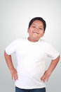 Fat Asian Boy Smiling Happily Royalty Free Stock Photo - 67586285