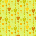 Seamless Pattern. Hearts Striped Background. Royalty Free Stock Photography - 67586367