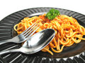 Plate With Spaghetti Royalty Free Stock Image - 6763856