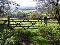Five Bar Gate With A Country View Stock Photo - 6764650