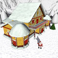 Toon Santas Cottage Royalty Free Stock Images - 6766969