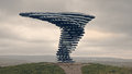 Singing Ringing Tree  Singing Sculpture. Burnley, Lancashire UK Stock Images - 67601014