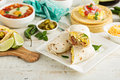 Breakfast Burritos With Eggs And Potatoes Stock Photography - 67617002