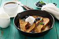 French Toast With Caramelized Banana Royalty Free Stock Photos - 67621798