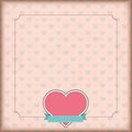 Vintage Cover Heart Emblem Ribbon Royalty Free Stock Image - 67638996
