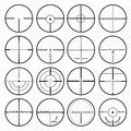 Sniper Scopes Monochrome Collection Of Icons Royalty Free Stock Photo - 67639345