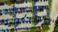 Parking Lots Full Of Vehicles. Birds Eye View Royalty Free Stock Photo - 67642555