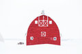 The Front Of Bright Red Old Barn Stock Photos - 67658963
