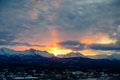 Sunrise In Alaska Over Mountains Royalty Free Stock Photos - 67659678