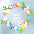Easter Eggs Wreath Royalty Free Stock Image - 67689216