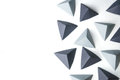 Origami Pyramids Abstract Background Royalty Free Stock Photography - 67695177