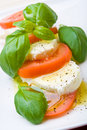 Slices Of Tomato And Mozzarella Royalty Free Stock Images - 6772249