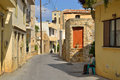 The Narrow Street In The Old Part Of Malia. Royalty Free Stock Image - 67714536