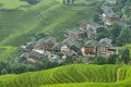 Views Of Green Longji Terraced Fields And Dazhai Village Stock Photography - 67717622