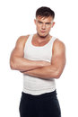 Athletic Guy Looking Right Into The Camera Stock Photography - 67719922