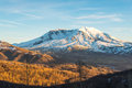 Scenic View Of Mt St Helens With Snow Covered  In Winter When Sunset ,Mount St. Helens National Volcanic Monument,Washington,usa. Stock Image - 67720041