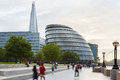 Shard And City Hall Buildings With People In London Royalty Free Stock Photo - 67737585