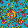 Fruit Fly Butterfly Seamless Pattern Royalty Free Stock Photography - 67749737