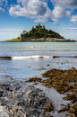 Castle On Island Vertical Royalty Free Stock Images - 67757309