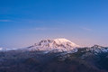 Scenic View Of Mt St Helens With Snow Covered  In Winter When Sunset ,Mount St. Helens National Volcanic Monument,Washington,usa. Stock Images - 67768974