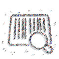 People Shape A Barcode Buy Icon Royalty Free Stock Photography - 67782177