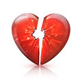 Red Glossy Broken Glass Heart Icon Royalty Free Stock Photo - 67783775